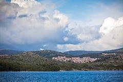 Croatian coastline view, Sibenik area Royalty Free Stock Photography