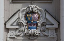 Croatian coat of arms. On the old building Stock Image