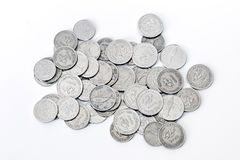 Croatian coins banknote. Croatian metal coins banknote. Mostly coins worth two Kunas Royalty Free Stock Image