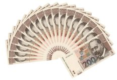 Croatian currency-200 kuna bills Stock Photography