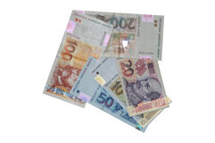 Croatian currency kuna banknotes arrow Royalty Free Stock Photos