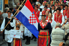 Croatian Dance Group Stock Images