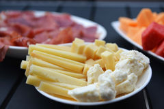 Croatian delicious food. Ham and cheese royalty free stock photography