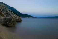 Croatian dusk Royalty Free Stock Photo