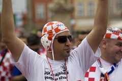 Croatian fan (Euro2012) Stock Photos