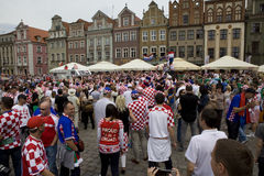 Croatian fans Royalty Free Stock Photography