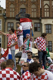 Croatian fans Royalty Free Stock Photo