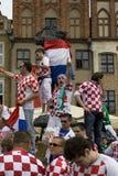 Croatian fans Royalty Free Stock Photo