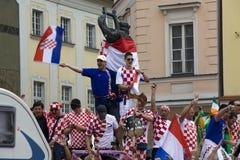 Croatian fans Royalty Free Stock Photography