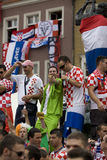 Croatian fans Royalty Free Stock Image