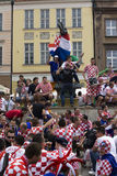 Croatian fans (Euro2012) Royalty Free Stock Image