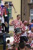Croatian fans (Euro2012) Stock Photo