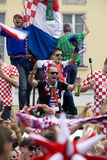 Croatian fans (Euro2012) Stock Photos