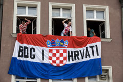 Croatian fans (Euro2012) Stock Photography