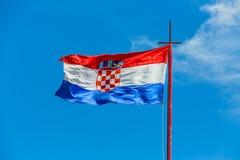 Croatian flag against blue sky Stock Image