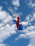 Croatian flag. On clody sky Stock Photo