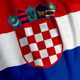 Croatian Flag Closeup Royalty Free Stock Photos