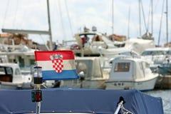 Croatian flag Stock Photography
