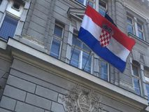 Croatian flag stock footage