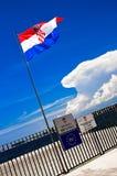 Croatian flag Royalty Free Stock Image