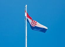Croatian flag in the sky Royalty Free Stock Images
