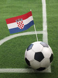 Croatian Flag on Top of Soccer Ball Royalty Free Stock Image