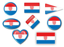 Croatian flag Royalty Free Stock Photography