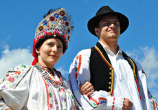 Croatian Folk Dancers Royalty Free Stock Photography