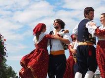 Croatian Folk Dancers Stock Photos