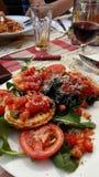Croatian food. Holiday royalty free stock photo