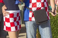 Croatian football fans_0 Stock Images