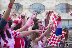 Croatian football fans Stock Photography