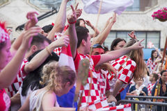 Croatian football fans Stock Photo