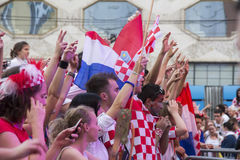 Croatian football fans_7 Royalty Free Stock Images