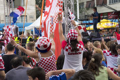 Croatian football fans_9 Stock Photo