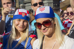 Croatian football fans_6 Stock Photography