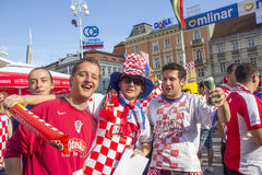 Croatian football fans_10 Royalty Free Stock Image