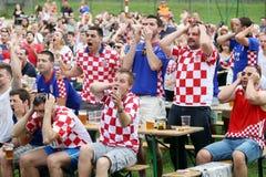 Croatian football fans Stock Photo