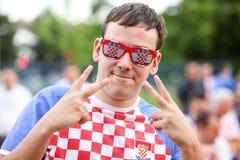 Croatian football fans Royalty Free Stock Photo