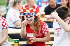 Croatian football fans Stock Images