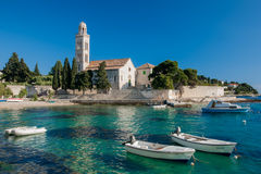 Croatian harbour Stock Photography