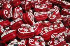 Croatian heart. Famous Croatian traditional decoration licitar stock images