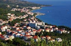 Croatian holiday town Tucepi Royalty Free Stock Photography