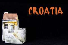 Croatian house, national architecture Royalty Free Stock Photos