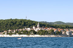 Croatian island of Korcula Stock Photography