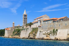 Croatian island of Rab, view on city and fortifications, Croatia Stock Photo