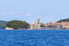 Croatian island of Rab, view on city and fortifications, Croatia Stock Image