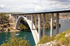 Croatian Krka bridge royalty free stock image