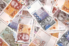 Croatian Kuna banknote Stock Photos