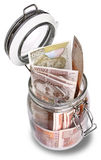 Croatian Kuna in jar Stock Photo